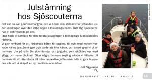 Julstämning hos Sjöscouterna