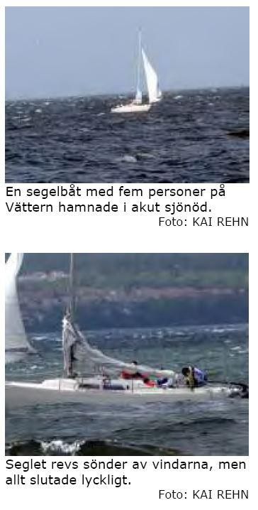 Segelbåt i akut sjönöd